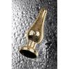 Анальный страз Metal by TOYFA золотистый с кристаллом цвета турмалин 10 см 3 см 95 г