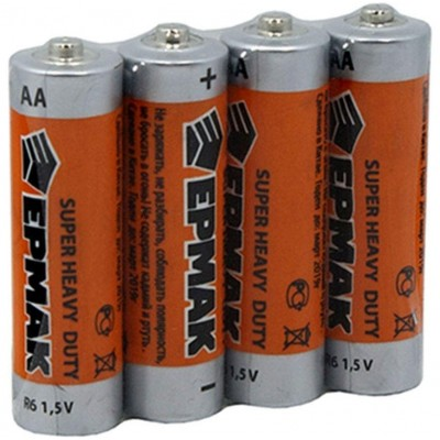 Батарейки пальчиковые ЕРМАК тип АА 4 шт