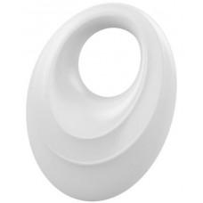 Эрекционное кольцо OVO закругленной стимулирующей формы с ультрасильной вибрацией, силиконовое, белое