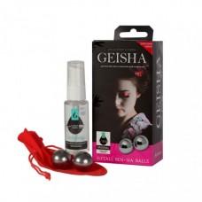 Вагинальные шарики SITABELLA Geisha ben-wa (металл 22 мм) и классический гель