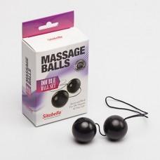 Вагинальные шарики SITABELLA пластик черные 3,5 см
